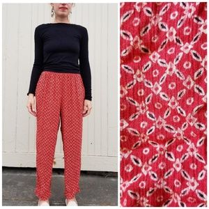 Jones New York ▪ pinwheel pattern flowy pants